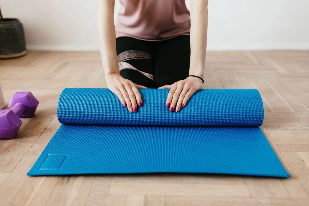 Yoga Mat rolled